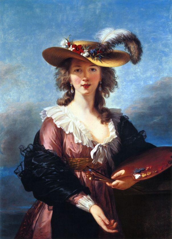 Self-portrait in a Straw Hat by Elisabeth-Louise Vigée-Lebrun (2)