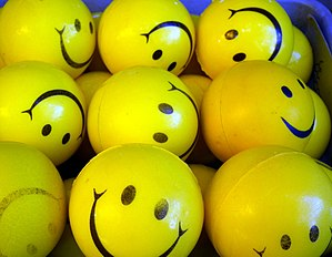 A smiley, or happy face, is a stylized represe...