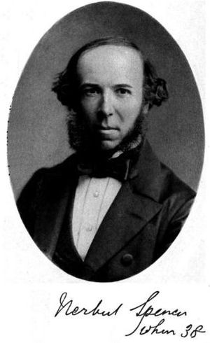 Picture of Herbert Spencer at age 38