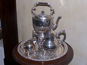 Tranby House silver tea service, original set ...