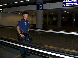 English: An example of Airport security.