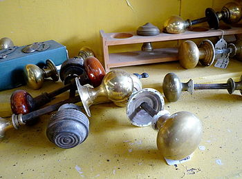 English: Antique door knobs Found whilst brows...