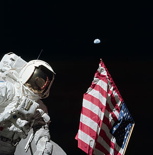 During the first EVA of Apollo 17, Eugene Cern...