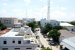 English: Bakaara Market in the heart of Mogadi...