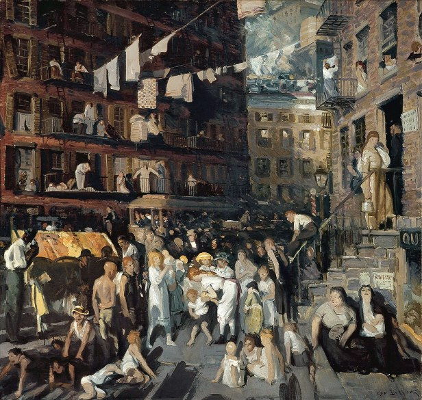 """Cliff Dwellers"" by George Bellows"