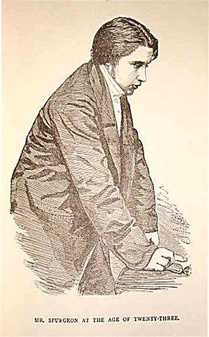 Spurgeon at age 23.