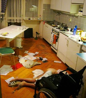 A crime scene. .
