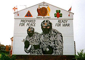 English: mural lojalist belfast