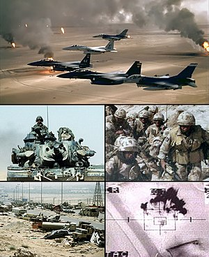 Gulf War photo collage for use in the infobox