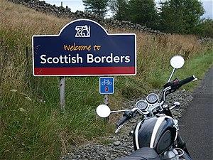 English: Into the Scottish Borders. Leaving Mi...