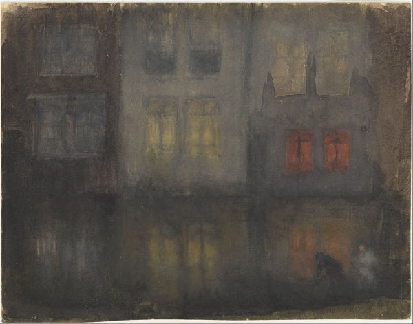 File James Mcneill Whistler - Nocturne- Black And Red