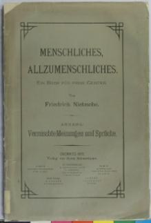 Menschliches Allzumenschliches Anhang Nietzsche  Djvu