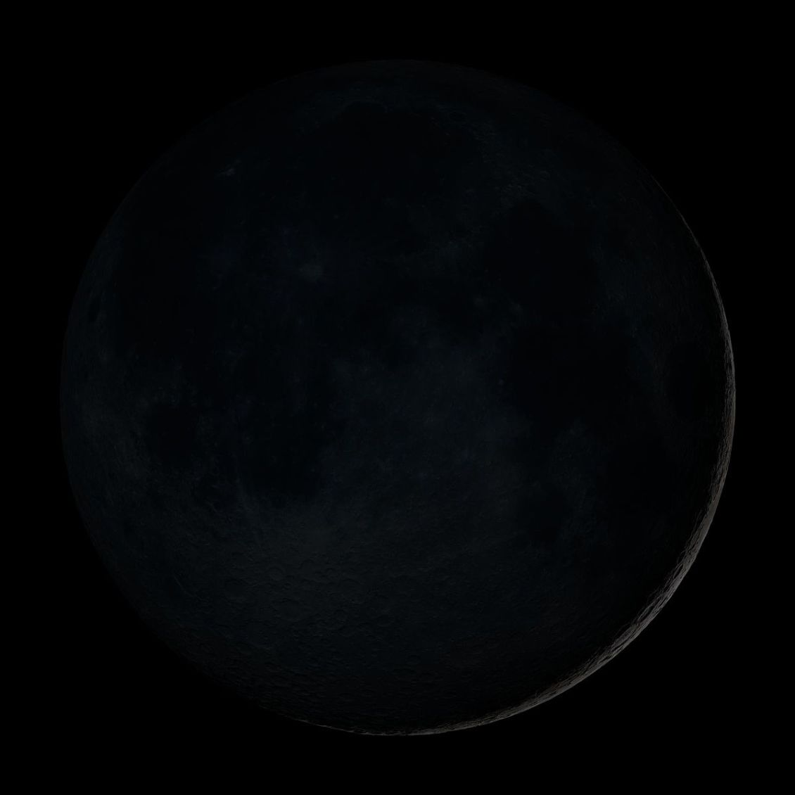 a New moon is seen in the sky