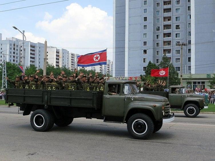 corea del nord bandiere esercito