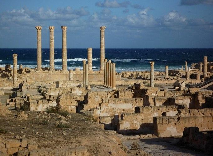 Sabratha - Säulen des Jupiter-Tempels