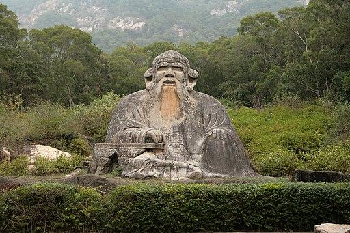 Statue von Laotse in Quanzhou (Zayton) (Bildquelle: Tom@HK [CC-BY-2.0], via Wikimedia Commons)