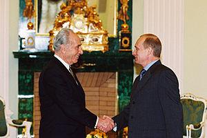 English: THE KREMLIN, MOSCOW. President Putin ...