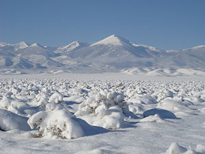 English: Snow blanketing Snake Valley and Whee...