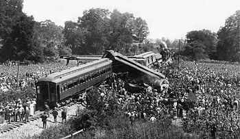 English: Great train wreck of 1918