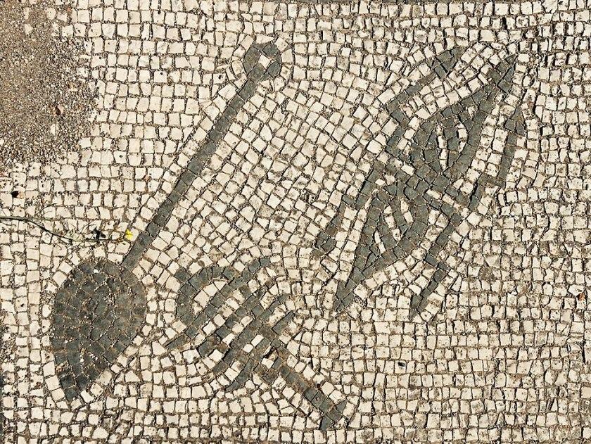 4th panel Mitreo di Felicissimus Ostia Antica 2006-09-08.jpg