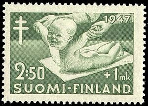 English: Postage stamp illustrating baby stret...