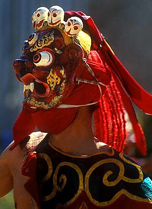 Chaam, sacred masked dances, are annually perf...