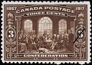 Timbre-poste du Canada 3 cents 1917