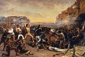"English: ""The Fall of the Alamo"" by ..."