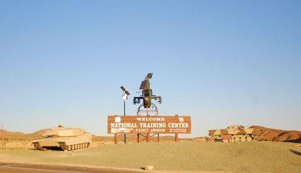 FileFort Irwin National Training Center Welcome sign