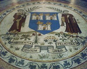 the floor of City Hall, Dublin