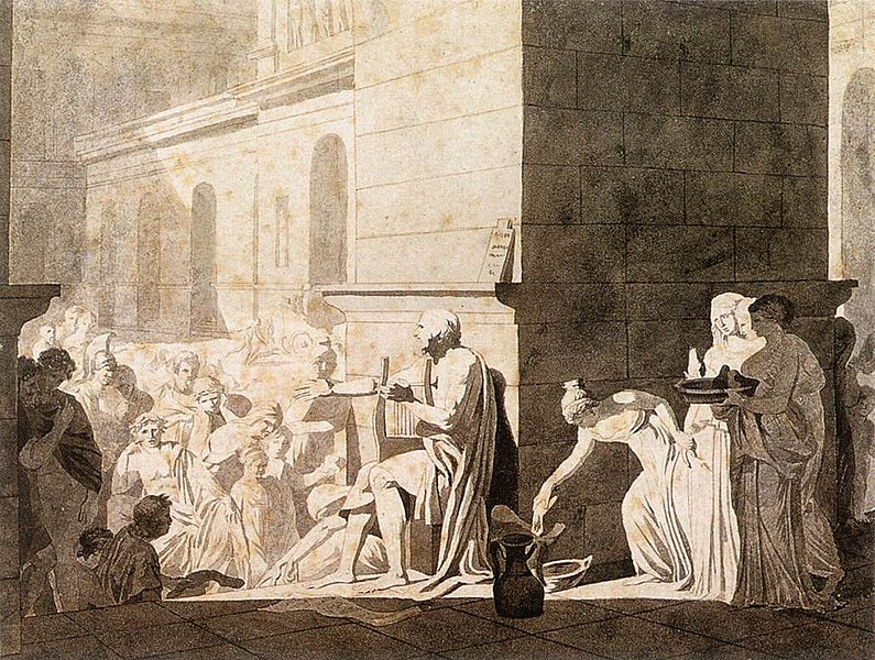 Jaques-Louis David, Homer Reciting his Verses to the Greeks, 1794