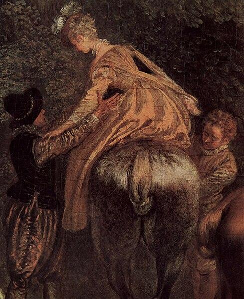 File:Jean-Antoine Watteau, The Halt during the Chase (detail) - 04.jpg