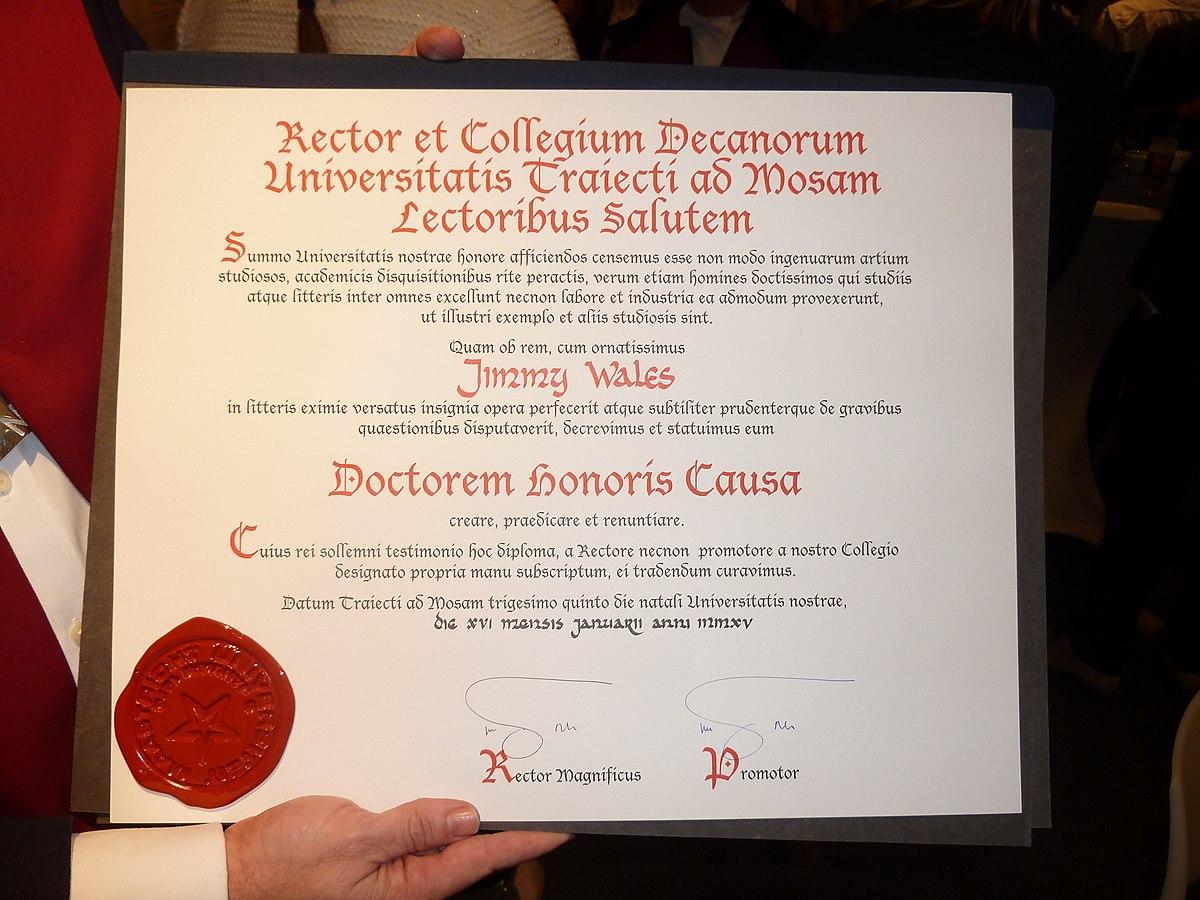 Honorary Degree Wikipedia