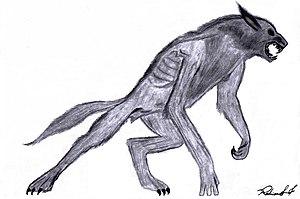Werewolf, by Rodrigo Ferrarezi Português: Lobi...