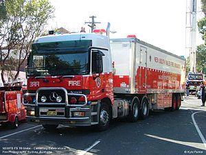 NSW Fire Brigades Urban Search & Rescue vehicle.