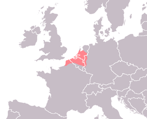 Area in which Old Dutch was spoken.