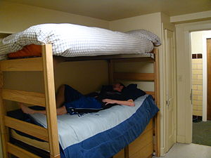 English: View of the bunked beds