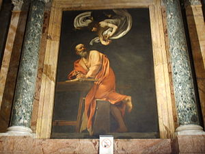 San Luigi dei Francesi, Caravaggio, san matteo