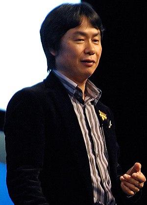 English: Shigeru Miyamoto at the Game Develope...