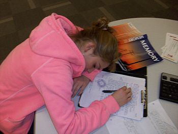 English: Students need sleep in order to study.