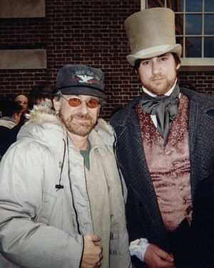Director Steven Spielberg and Eric Bruno Borgm...