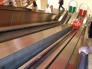 Escalators at the Target store in The Shops at...