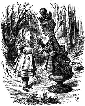 Illustration by John Tenniel of the Red Queen ...
