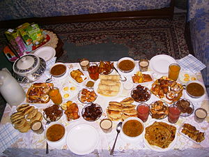 Traditional ramadan meal