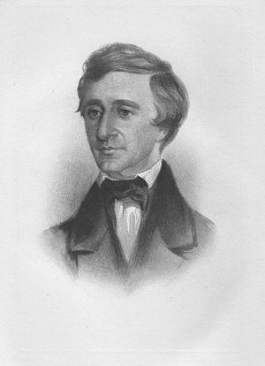 English: crayon portrait of Henry David Thorea...