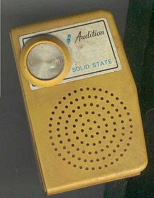 English: 'Audition' brand pocket transistor radio