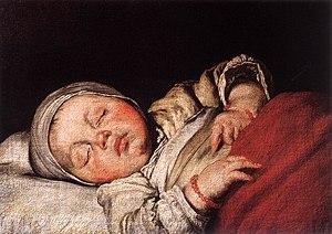 Bernardo Strozzi - Sleeping Child - WGA21930
