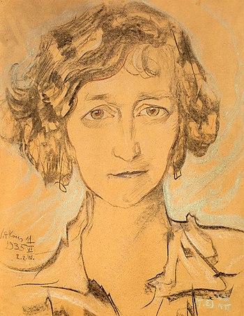 Portrait of Zofia Romer by Stanislaw Ignacy Wi...