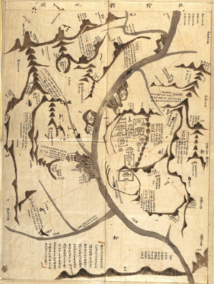 English: Old map of Buyeo County