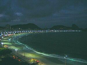 English: Copacabana Beach, Rio de Janeiro, at ...